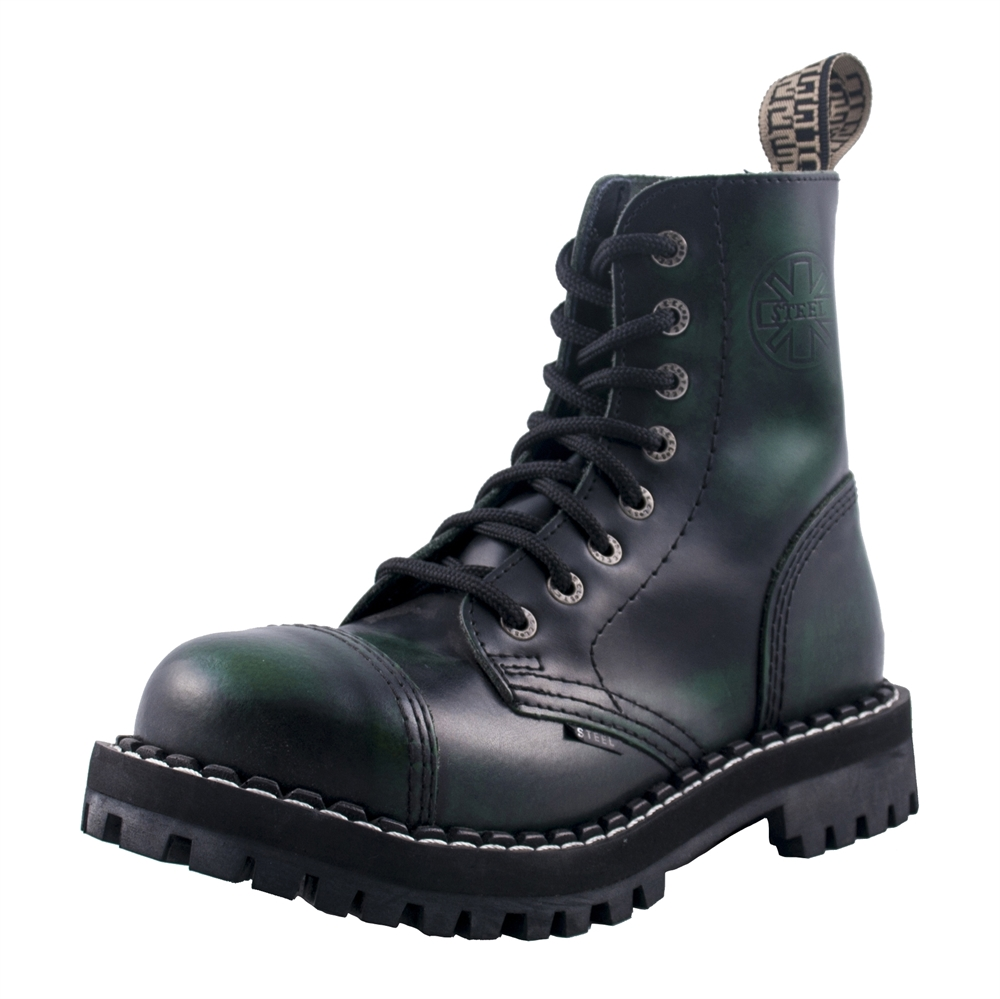 Steel - Rub Off 8-Loch Boots Grün