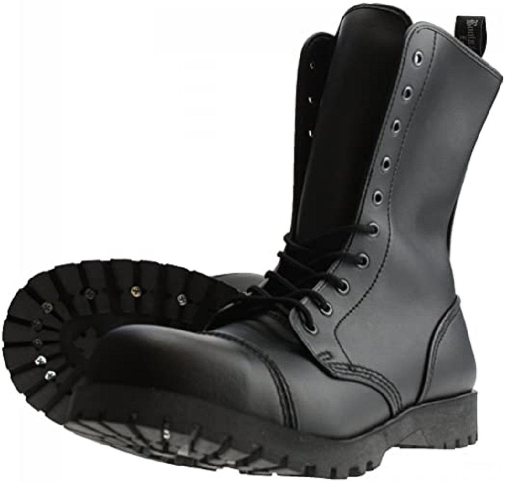 Boots & Braces - Vegi-Boots Schwarz, 10-Loch Vegan Stiefel