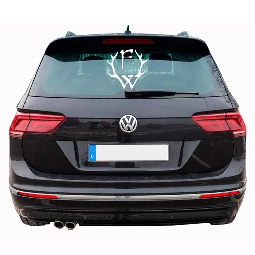 Frei.Wild - F-W Logo Aufkleber (weiss), 35x35cm