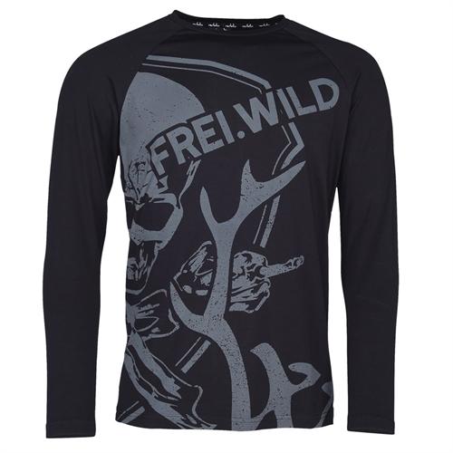 Frei.Wild - R&R Allover Skull, Man Longsleeve