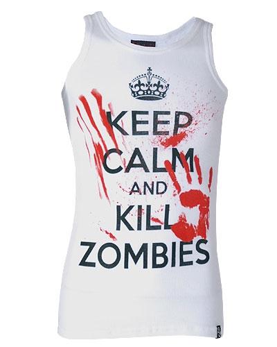 Darkside - Keep Calm & Kill Zombies, Muskelshirt