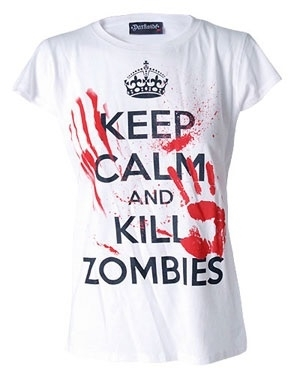 Darkside - Keep Calm And Kill Zombies, Girl-Shirt