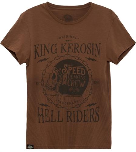 King Kerosin - Speed Demon Crew, T-Shirt braun
