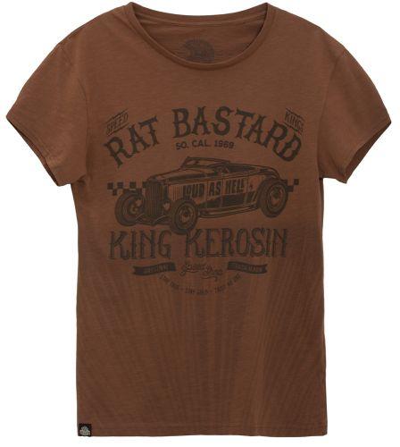 King Kerosin - Rat Bastard, T-Shirt braun