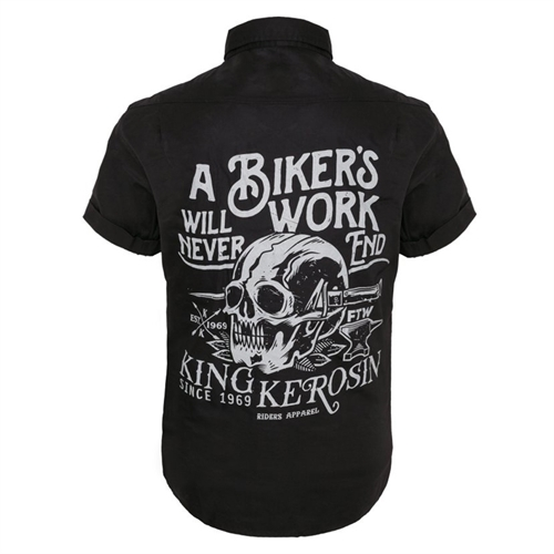 King Kerosin - Bikers Work, Worker-Shirt Hemd