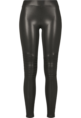 Urban Classics - Ladies Faux Leather Biker Legging