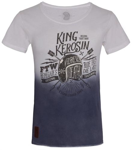 King Kerosin - Ride Fast Die Last, T-Shirt blau