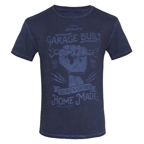 King Kerosin - Hand Made,T-Shirt navy
