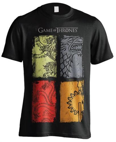 Game of Thrones - 4 Logos, T-Shirt