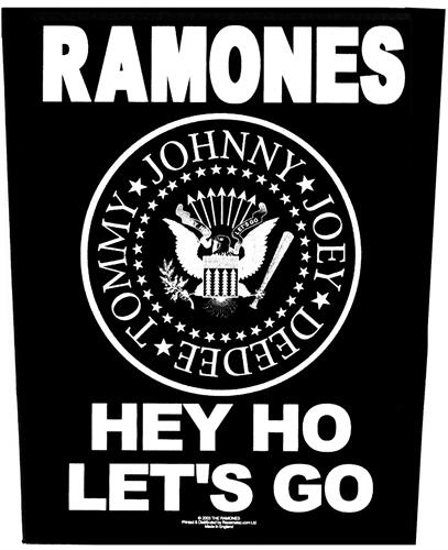 Ramones -  Hey Ho Lets Go, Rückenaufnäher