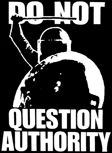 Do not question authority - Aufnäher