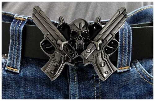 Guns and Skull - Gürtelschnalle