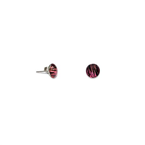 Ohrstecker - Zebra pink
