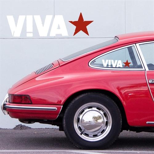 Viva  - Logo, Seitenfensteraufkleber