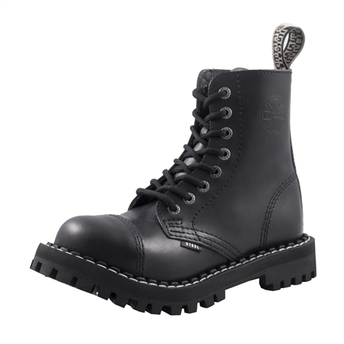 Steel - Full Black, 8-Loch Boots