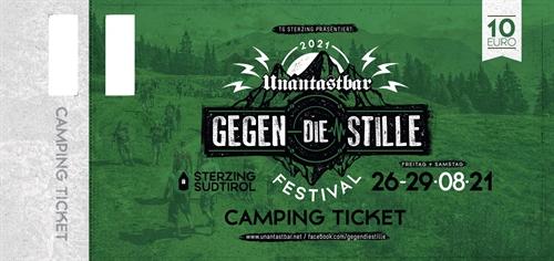 Unantastbar - Gegen die Stille, Camping-Ticket