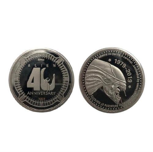 Alien Sammelmünze 40th Anniversary Silver Edition