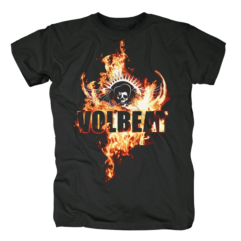 volbeat on fire t shirt halt deine schnauze mailorder. Black Bedroom Furniture Sets. Home Design Ideas