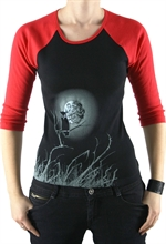 Mond-Eule Contrast Raglan, 3/4 Sleeve Girl-Sweater