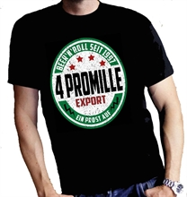 4 Promille - Beer`N`Roll, T-Shirt