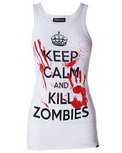 Darkside - Keep Calm And Kill Zombies, Girlie Muskelshirt