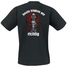 Kneipenterroristen - Color Heute trinken, T-Shirt