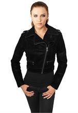 Urban Classics - Ladies Short Biker Jacket, Girl-Kunstlederjacke