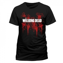 The Walking Dead - Bloody Hands Logo, T-Shirt