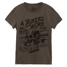 King Kerosin - Bikers Work, T-Shirt oliv