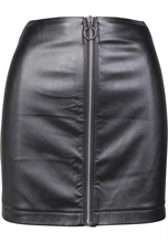 Urban Classics - Ladies Faux Leather Skirt, Rock