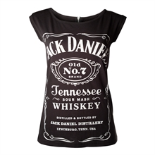 Jack Daniels - Logo Back-Zip, Girl-Shirt