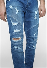 Cayler & Sons - Paneled Ian Denim Pants, Hose