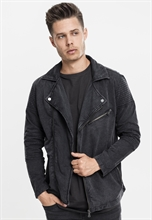 Urban Classics - Acid Wash Terry Biker Jacket, Jacke