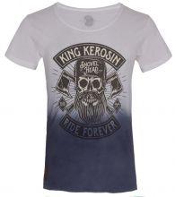 King Kerosin - Lumberjack, T-Shirt blau