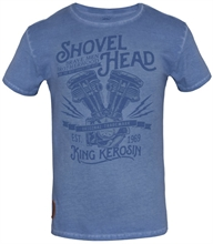 King Kerosin - Shovel Head, T-Shirt blau