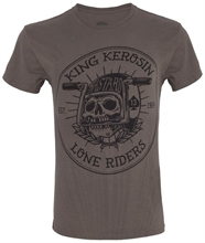King Kerosin - Lone Riders, T-Shirt oliv