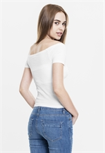 Urban Classics - Off Shoulder Rib Tee, Girl-Shirt