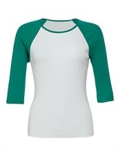 Bella - 3/4 Sleeve Contrast Ranglan, Girl-Sweater