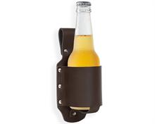 Bier Getränkehalter aus Leder