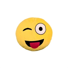 Emoji/Emoticon - Zwinker Smiley, Kissen