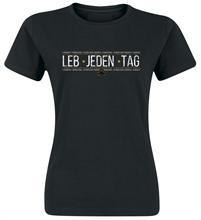 Artefuckt - Lebe jeden Tag, Girl-Shirt