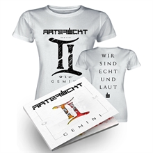 Artefuckt – Gemini, Bundle Girl-Shirt + CD