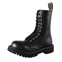 Steel - Full Black, 10-Loch Boots