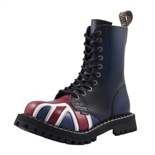 Steel - England Flag, 10-Loch Boots