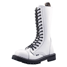 Steel - Full White, 15-Loch Boots