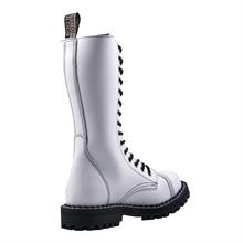 Steel - Full White, 15-Loch Boots