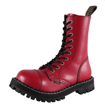 Steel - Full Red, 10-Loch Boots