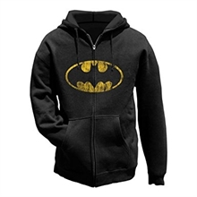 Batman - Distressed Shield, Kapuzenjacke
